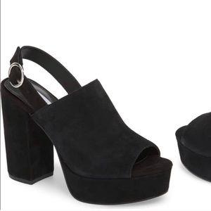 Steve Madden Black Velvet Platform Heels